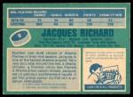 1976 O-Pee-Chee NHL #8  Jacques Richard  Back Thumbnail
