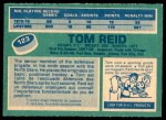 1976 O-Pee-Chee NHL #123  Tom Reid  Back Thumbnail