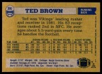 1982 Topps #391  Ted Brown  Back Thumbnail