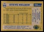 1982 Topps #158  Steve Nelson  Back Thumbnail
