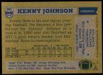 1982 Topps #283  Kenny Johnson  Back Thumbnail