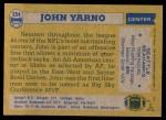 1982 Topps #254  John Yarno  Back Thumbnail