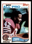 1982 Topps #486  Ronnie Lott  Front Thumbnail