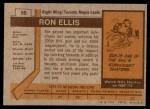 1973 Topps #55  Ron Ellis   Back Thumbnail