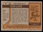 1973 Topps #38  Don Luce   Back Thumbnail