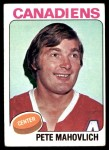 1975 Topps #50  Peter Mahovlich   Front Thumbnail