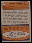 1974 Topps #145  Jean Ratelle  Back Thumbnail
