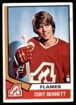 1974 Topps #33  Curt Bennett  Front Thumbnail