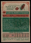 1973 Topps #127  Curtis Rowe  Back Thumbnail