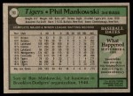 1979 Topps #93  Phil Mankowski  Back Thumbnail