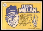 1970 Topps #452   -  Felix Millan All-Star Back Thumbnail