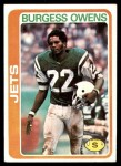 1978 Topps #121  Burgess Owens  Front Thumbnail
