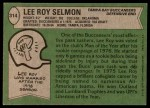 1978 Topps #314  Lee Roy Selmon  Back Thumbnail
