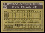 1990 Topps #9  Eric Plunk  Back Thumbnail