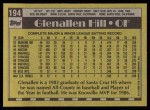 1990 Topps #194  Glenallen Hill  Back Thumbnail