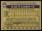 1990 Topps #384  Pat Combs  Back Thumbnail