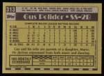 1990 Topps #313  Gus Polidor  Back Thumbnail