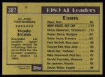 1990 Topps #387   -  Wade Boggs All-Star Back Thumbnail