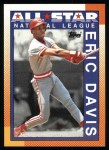 1990 Topps #402   -  Eric Davis All-Star Front Thumbnail