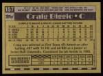 1990 Topps #157  Craig Biggio  Back Thumbnail