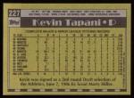 1990 Topps #227  Kevin Tapani  Back Thumbnail