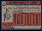 1974 Topps #51  Jerry Sloan  Back Thumbnail