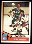 1974 Topps #145  Jean Ratelle  Front Thumbnail