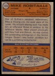 1974 Topps #159  Mike Robitaille  Back Thumbnail
