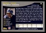 2001 Topps #19  Reggie Jones  Back Thumbnail