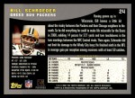2001 Topps #24  Bill Schroeder  Back Thumbnail