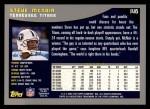2001 Topps #146  Steve McNair  Back Thumbnail