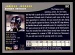 2001 Topps #180  Jarious Jackson  Back Thumbnail
