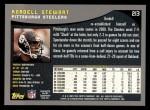 2001 Topps #213  Kordell Stewart  Back Thumbnail