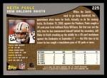 2001 Topps #225  Keith Poole  Back Thumbnail