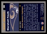 2001 Topps #282  Marshall Faulk  Back Thumbnail