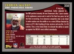 2001 Topps #332  Cedrick Wilson  Back Thumbnail