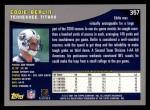 2001 Topps #357  Eddie Berlin  Back Thumbnail