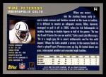 2001 Topps #14  Mike Peterson  Back Thumbnail