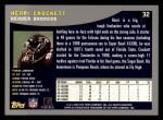 2001 Topps #32  Henri Crockett  Back Thumbnail