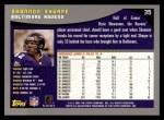 2001 Topps #35  Shannon Sharpe  Back Thumbnail