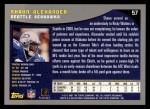 2001 Topps #57  Shaun Alexander  Back Thumbnail