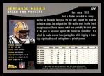 2001 Topps #126  Bernardo Harris  Back Thumbnail