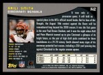 2001 Topps #142  Akili Smith  Back Thumbnail