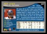 2001 Topps #207  Jeff Lewis  Back Thumbnail