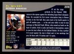 2001 Topps #209  Al Wilson  Back Thumbnail