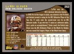 2001 Topps #262  La'Roi Glover  Back Thumbnail