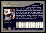 2001 Topps #277  Derrick Mason  Back Thumbnail