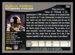2001 Topps #139  Plaxico Burress  Back Thumbnail