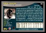 2001 Topps #141  Fred Taylor  Back Thumbnail