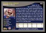2001 Topps #193  Peerless Price  Back Thumbnail